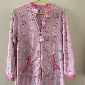 Sleepy Owl Adult Women's Zip-Up PJ Onsie
